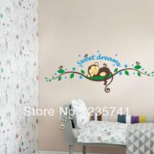 zy1203 monkey tree wall art stickers for kinds room removable home