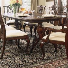 Double Pedestal Dining Room Tables Double Pedestal Dining Table By American Drew Wolf And Gardiner