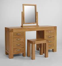 Single Pedestal Dressing Table Santana Blonde Oak Dressing Table Or Computer Desk