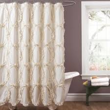 Lush Shower Curtains Ivory Shower Curtain Foter