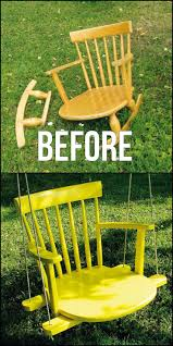 best 25 diy swing ideas on pinterest outdoor hammock swinging give an old chair a new life by turning it into a chair swing