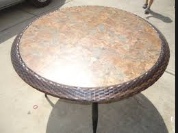 Replacement Glass Table Top For Patio Furniture Diy Replace Glass Tabletop With Tile For Under 15 Tabletop
