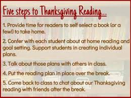 thanksgiving reading plans nosek literacy