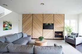 chevron wood wall feature wall design idea a chevron accent wall contemporist