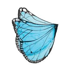amazon com fanciful fabric butterfly wings in blue clothing