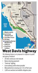 Draper Utah Map by Highway Officials Identify Proposed West Davis Corridor Route