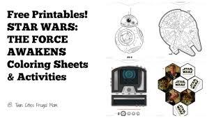 free printables star wars force awakens coloring sheets