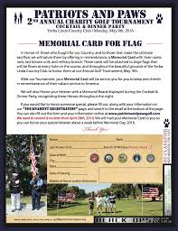 Golf Tournament Flags Please Support Us On May 9th 2016 Patriots And Paws