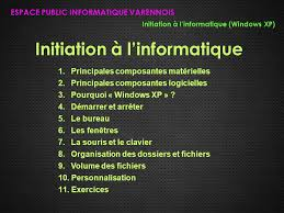 organisation bureau windows initiation à l informatique ppt télécharger