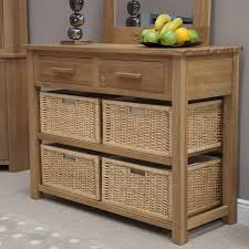 Small Oak Console Table Opus Solid Oak Basket Console Table For The Home Pinterest