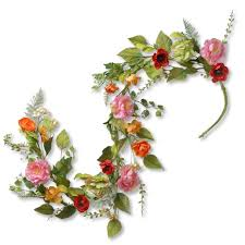 floral garland national tree company 5 ft flower garland ras 150329 1