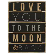 space posters wallies prints and murals love you to the moon and back plank art