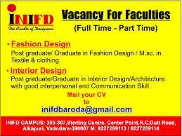 Vacancy For Interior Designer Jobs In Inifd Vacancies In Inifd Opportunities At Inifd Jobs At