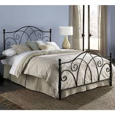 amazon com deland complete bed with curved grill design and