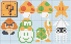 super mario bros images mario characters stitch patterns