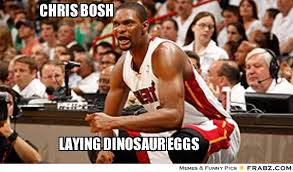 Chris Bosh Memes - chris bosh look like a dinosaur chris bosh meme generator