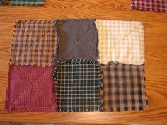 Primitive Table Runners by Red Homespun Placemats 6 Rag Quilt Placemats Table Mats Rag