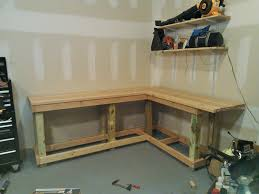 Garage Workbench Designs How To Build Shelving For Garage The Suitable Home Design