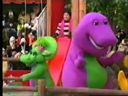 barney in the 2002 macy s thanksgiving day parade