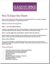 how to clean a room printables clean my space