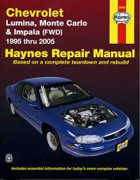chevrolet lumina monte carlo u0026 impala fwd 95 05 haynes repair