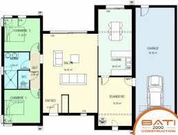 plan de maison plain pied 2 chambres plan de maison 2 chambres 1 3 maison 2 chambres gallery of plan