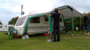 Small Caravan Awnings Putting Up A Caravan Awning Time Lapse Youtube
