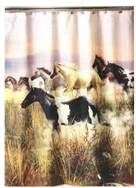band of thunder horses shower curtain 6000