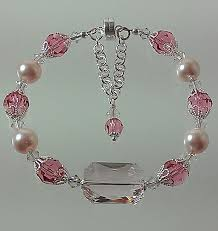 swarovski bracelet with pearls images Swarovski rosaline pearls and emerald cut crystal bracelet jpg