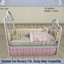 second life marketplace snuggle baby summer sun nursery crib for
