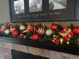 christmas decoration mantle garland red and gold garland