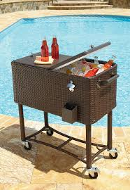 Patio Table Accessories by Garden Oasis 80qt Wicker Patio Cooler Outdoor Living Patio