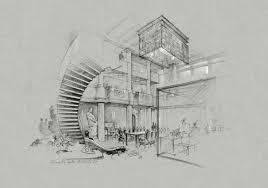 architectural sketches rendering pencil photoshop