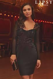 black lace dresses long u0026 short black lace dresses next uk