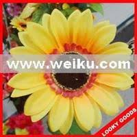 Fake Sunflowers Purple Color Artificial Hanging Flower Ball Wedding Decorative