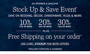 Pottery Barn Free Shipping Codes Pottery Barn Stock Up U0026 Save On Easy Updates Up To 30 Off