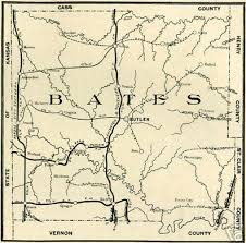 bates map bates county missouri genealogy history maps including butler