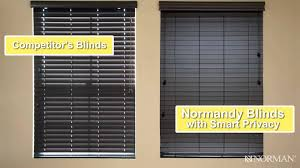 normandy hardwood blinds by norman youtube