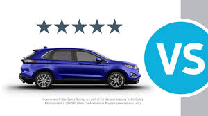 Ford Edge Safety Rating 2015 Edge Compare Vs Nissan Murano Youtube