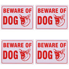 yard signs amazon com beware of dog sign 9 x 12 inch 4 pack