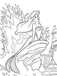 mermaid melody coloring pages printable detailed adults