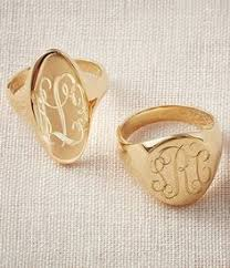 Monogramed Rings Womens Script Monogram Ring In 14k Gold Style Pinterest