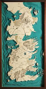 Map Westeros Westeros Game Of Thrones Map Laser Cut 100 Made In Italy