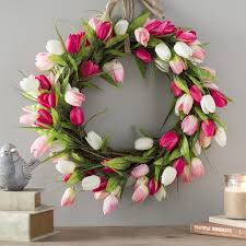 tulip wreath faux tulip wreath reviews joss