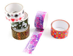 Decorative Scotch Tape Packing Tape With Print Masking Tape For Gift Wrapping A Set Of