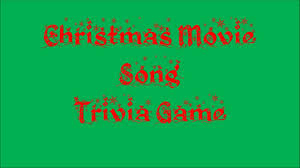 christmas movie song trivia game youtube