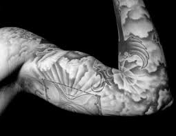 black and grey tattoo background designs pictures to pin on