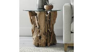 Driftwood Sofa Table by Driftwood Round Side Table Crate And Barrel