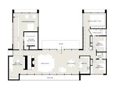 Home Plans With Courtyard 25 More 3 Bedroom 3d Floor Plans Unusual L Shape House 4 Vitrines