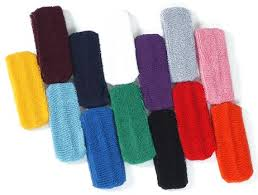 cloth headbands colored terry cloth headbands in choice of 16 colors wristbands
